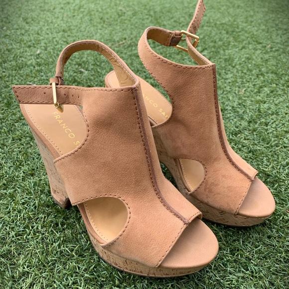 8dc9e091a63 Franco Sarto Shoes - NWOT Franco Sarto suede wedge sandals